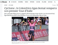 La prensa del mundo destacó el título de Egan Bernal en el Giro de Italia